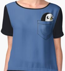 There's an evil penguin in my pocket! Women's Chiffon Top