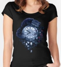 Time in Wonderland Women's Fitted Scoop T-Shirt