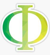 Phi-green Sticker