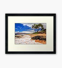 Keawakapu Beach - Mokapu Beach Framed Print