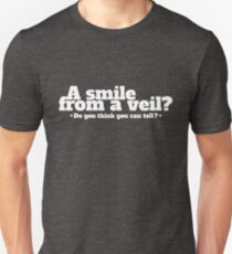 A Smile From A Veil - Pink Floyd Rock Lyrics Inspired Typography Unisex T-Shirt