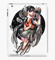 """Little Red Robin Lady"" (watercolor & ink) iPad Case/Skin"