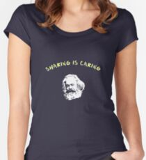 sharing is caring Women's Fitted Scoop T-Shirt