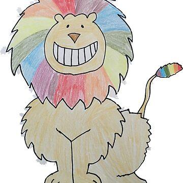 Gary the Rainbow Lion de AllisonKe