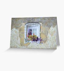 Sunlit window, France by George Deutsch Greeting Card