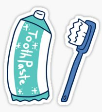 Toothpaste and Toothbrush Sticker