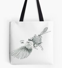 Dreams of Flight and Flowers Tote Bag
