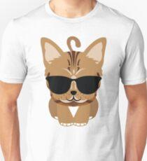 Bengal Cat Emoji Cool Sunglasses Look Unisex T-Shirt