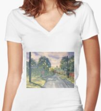Approach to Kilham Women's Fitted V-Neck T-Shirt