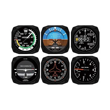 Aviation 6 Pack Instrument for Pilots by skyhawktees
