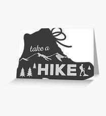 Take a Hike - Hiking Sticker Greeting Card
