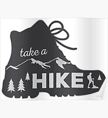 Take a Hike - Hiking Sticker Poster