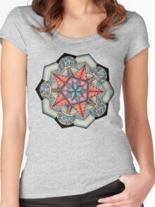 Pentacle Mandala Women's Fitted Scoop T-Shirt