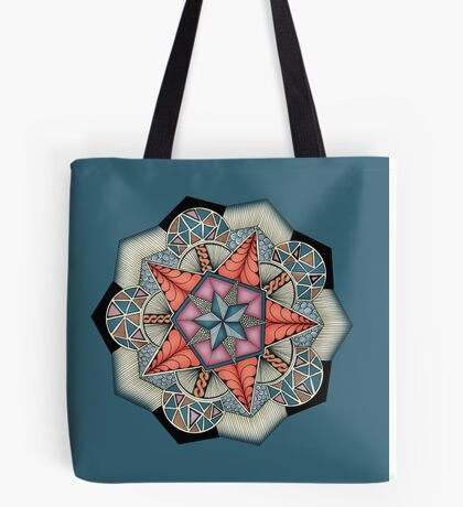 Pentacle Mandala Tote Bag