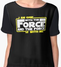 I am One With The Force And The Force Is With Me Chiffon Top