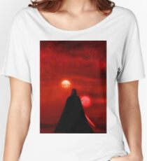 Star Wars Darth Vader Tatooine Sunset  Women's Relaxed Fit T-Shirt
