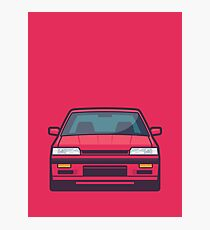 Nissan Skyline R31 GTS-R (Red) Photographic Print