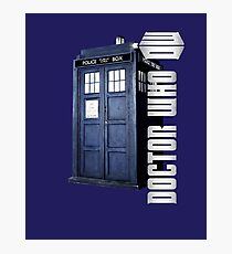DW. DOCTOR WHO TARDIS Photographic Print