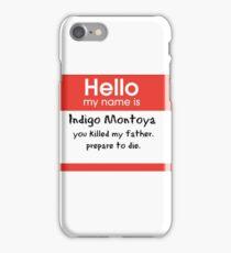 Princess Bride Nametag iPhone Case/Skin