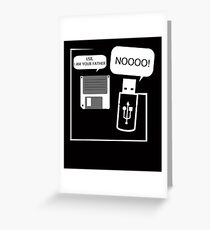 USB I Am Your Father! Funny Geeks Computer T Shirt Greeting Card