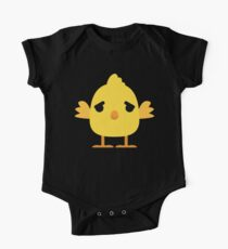 Cute Chick Emoji Worry and Stress Look Kids Clothes