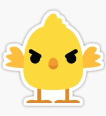 Cute Chick Emoji Angry and Mean Look Sticker