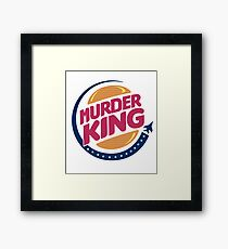 MURDER KING Framed Print