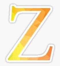 Zeta-yellow Sticker