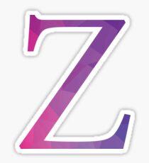 Zeta-purple Sticker
