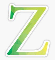 Zeta-green Sticker