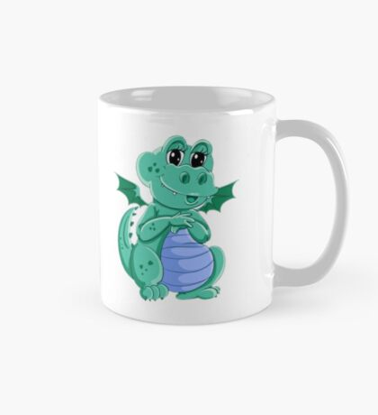 Green Girl Dragon Mug