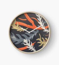 Banksia pattern Clock