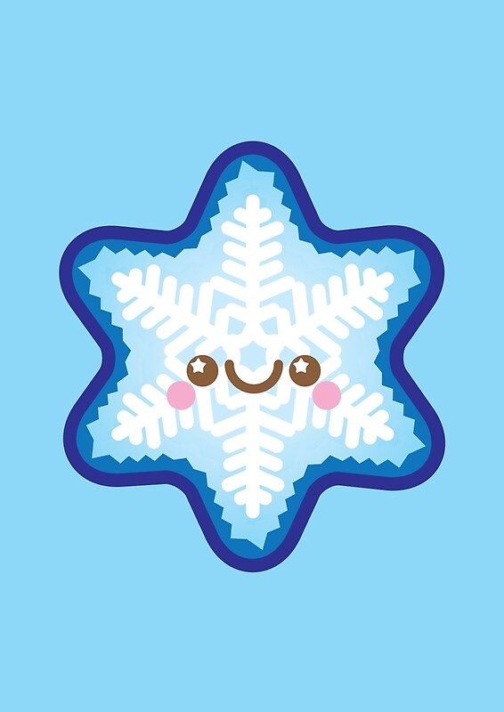 Quot Cute Kawaii Christmas Snowflake Quot Art Prints By