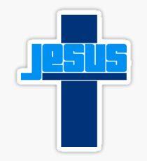 text schriftzug jesus kreuz leben glauben christus cool logo design  Sticker