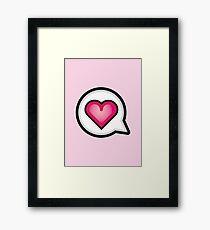 Cute Kawaii Love Speech Bubble Framed Print