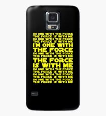 The Force is with me and I am one with the Force Case/Skin for Samsung Galaxy