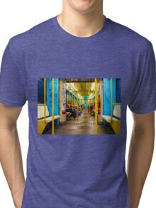 Subway carriage in Milano, Italy Tri-blend T-Shirt