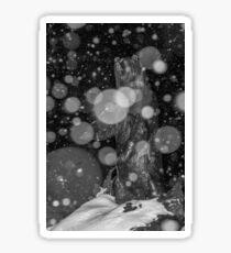 Spirit Bear in Snowstorm Sticker