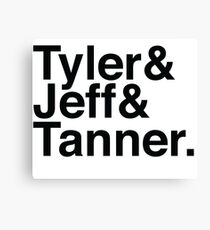 Tyler & Jeff & Tanner Canvas Print