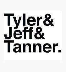 Tyler & Jeff & Tanner Photographic Print