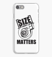 Turbo size matters iPhone Case/Skin