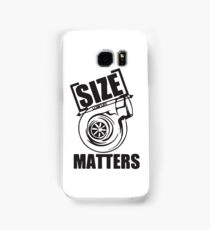 Turbo size matters Samsung Galaxy Case/Skin