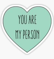 You are My Person | Love Couple | Friendship Blue Heart Print  Sticker