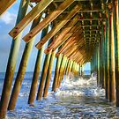 Golden Sunset Under The Pier by Kathy Baccari