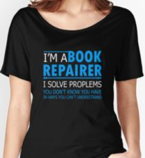 AWESOME BOOK REPAIRER TEE SHIRTS Women's Relaxed Fit T-Shirt