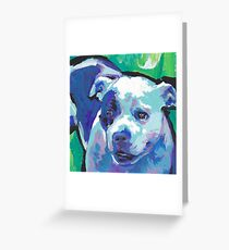staffordshire Bull Terrier Bright colorful pop dog art Greeting Card