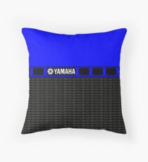 Yamaha 60th R1 Blue Throw Pillow