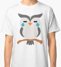 Night Owl Emoji Teary Eyes and Sad Look Classic T-Shirt