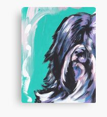Tibetan Terrier Bright colorful pop dog art Canvas Print