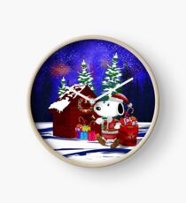 Santa Clause in the DOG world Clock